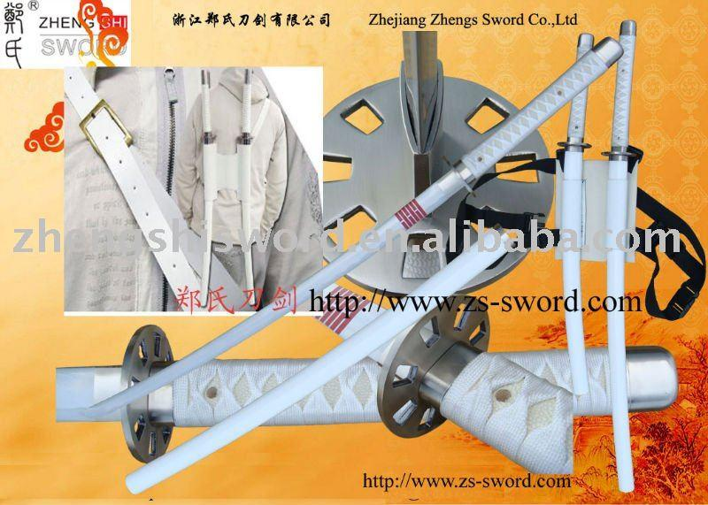 Cartoon Sword-Cosplay Sword-Movie Storm Shadow Ninja Sword Snake Eyes White Twin Katanas