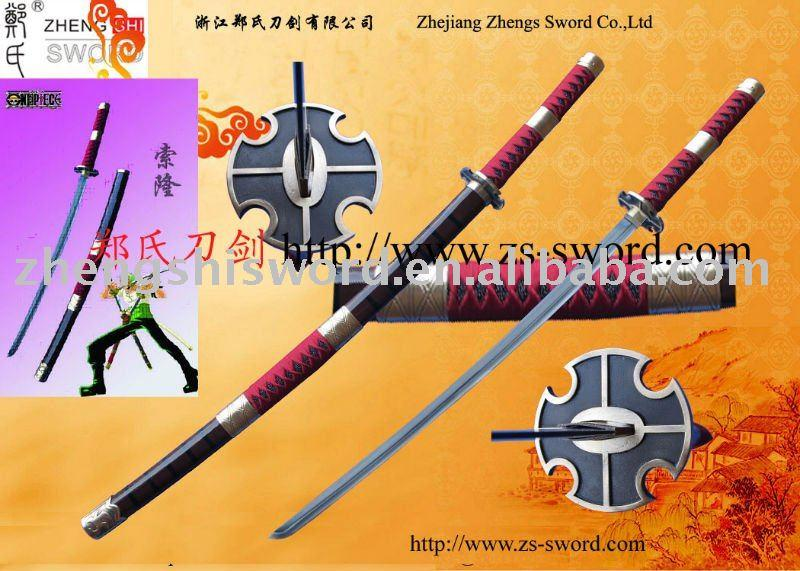 Cartoon Sword-One Piece Roronoa Zolo Yubashiri Anime Sword Ii