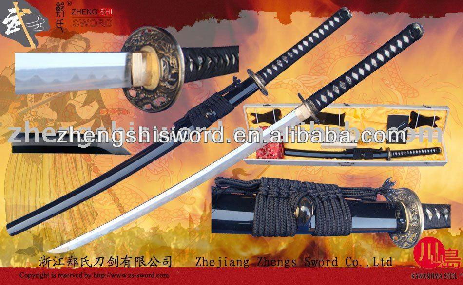 Handmade Quality Clay-Tempered Hon Sanmai Samurai Sword With Special Hamon